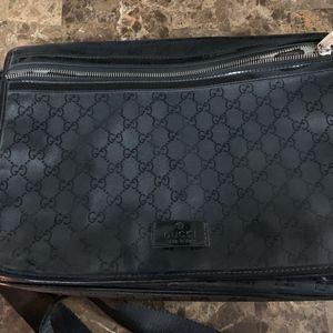 gucci Guccissima GG imprime laptop bag